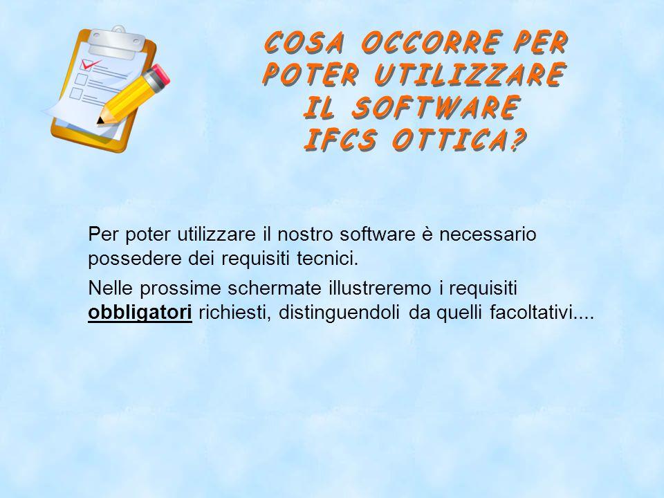 Per poter utilizzare il nostro software è necessario possedere dei requisiti tecnici.