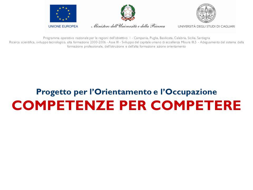 Programma operativo nazionale per le regioni dell'obiettivo 1 - Campania, Puglia, Basilicata, Calabria, Sicilia, Sardegna Ricerca scientifica, svilupp