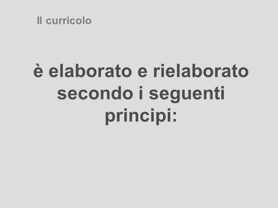 GRADUALITA' Il curricolo deve tenere conto delle fasi di crescita e della complessità dei concetti all'interno di un percorso ciclico