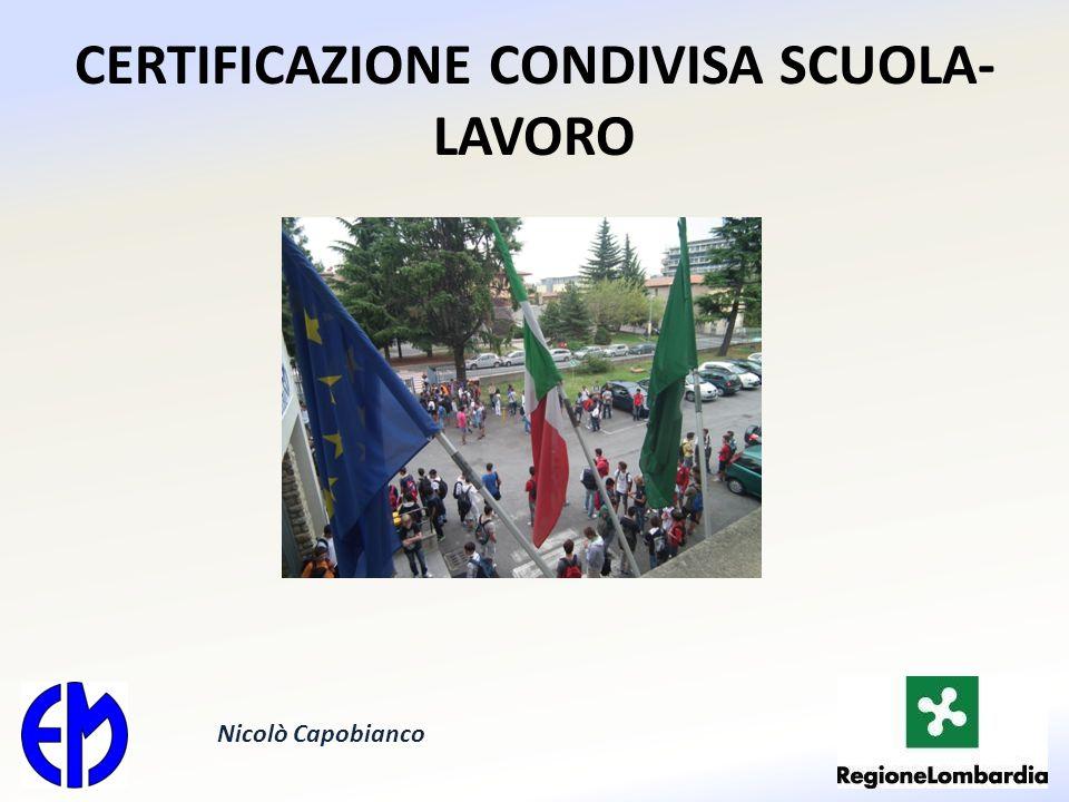 CERTIFICAZIONE CONDIVISA SCUOLA- LAVORO Nicolò Capobianco