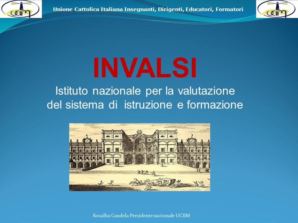 Unione Cattolica Italiana Insegnanti, Dirigenti, Educatori, Formatori Rosalba Candela Presidente nazionale UCIIM ATTIVITÀ coordinamento S.N.V.