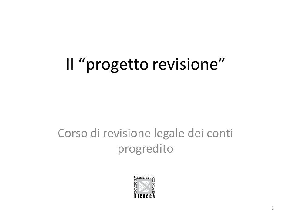 """Il """"progetto revisione"""" Corso di revisione legale dei conti progredito 1"""