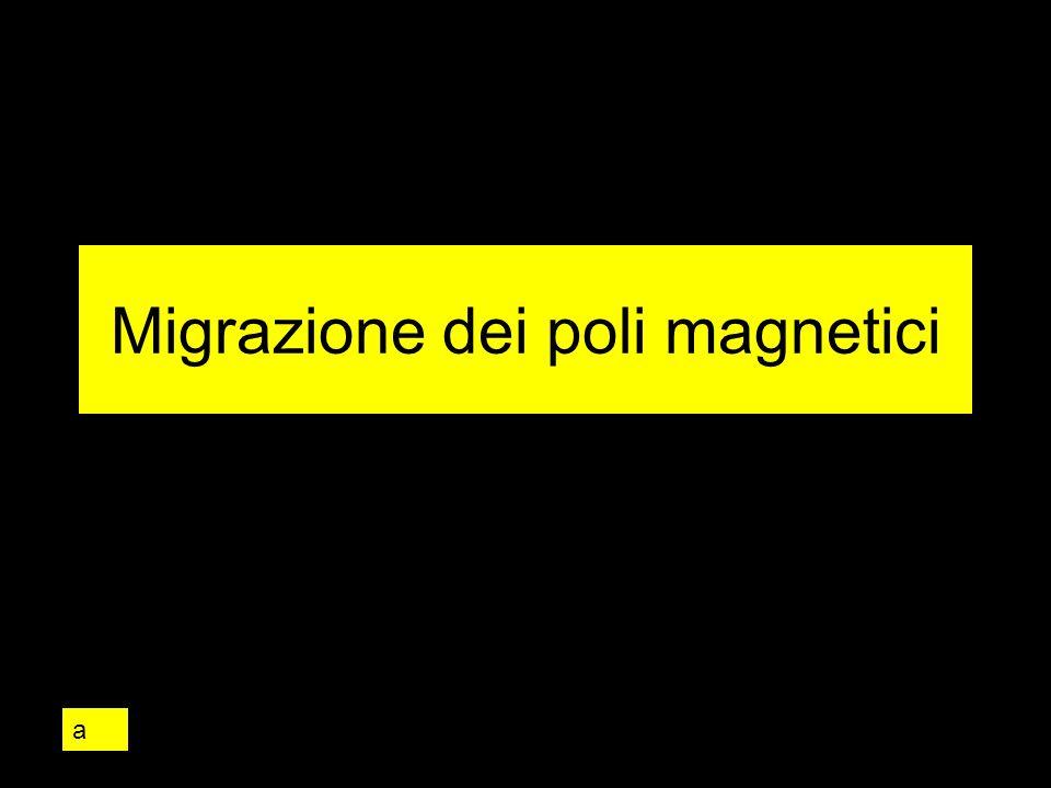 Migrazione dei poli magnetici a