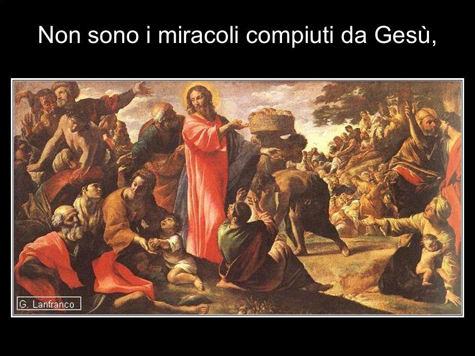 Non sono i miracoli compiuti da Gesù,