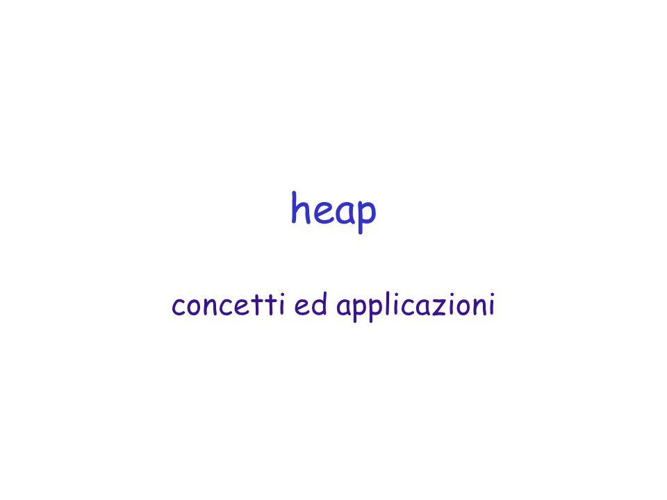heap concetti ed applicazioni