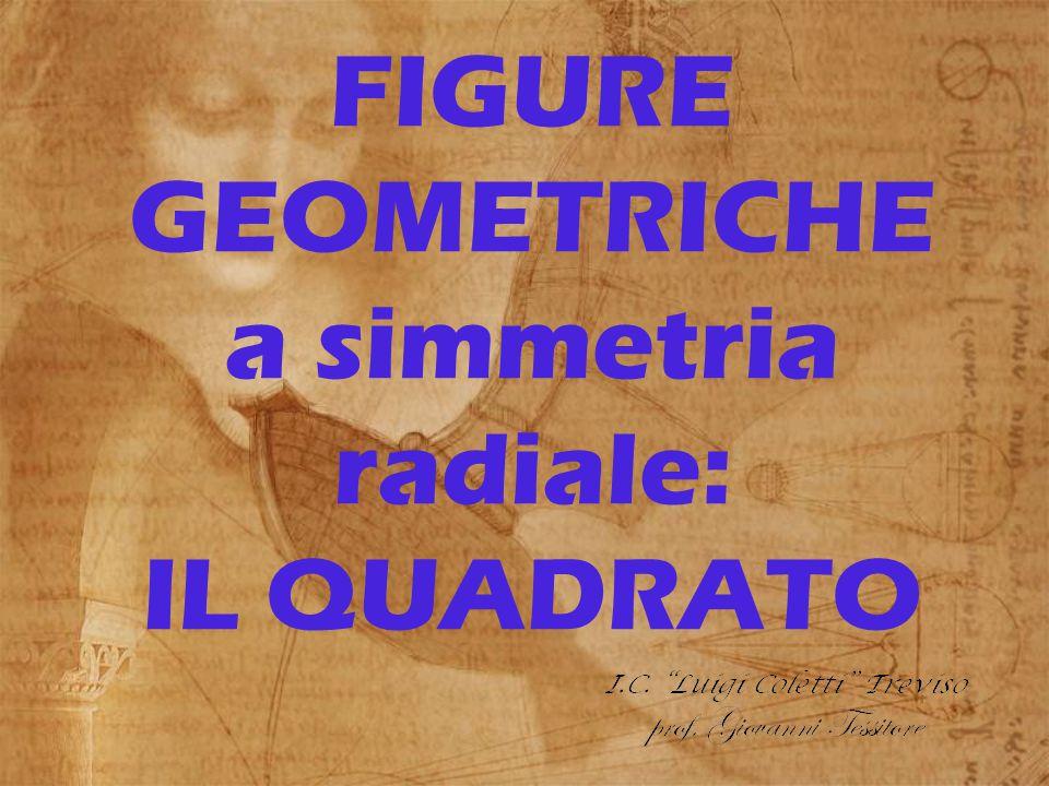 FIGURE GEOMETRICHE a simmetria radiale: IL QUADRATO