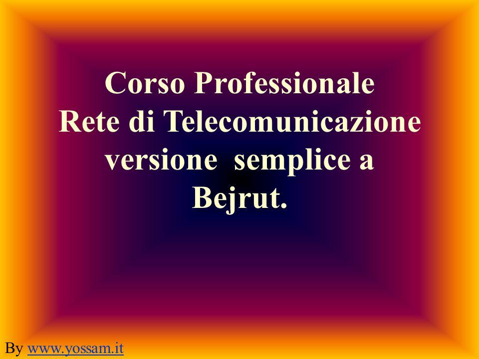 Corso Professionale Rete di Telecomunicazione versione semplice a Bejrut.