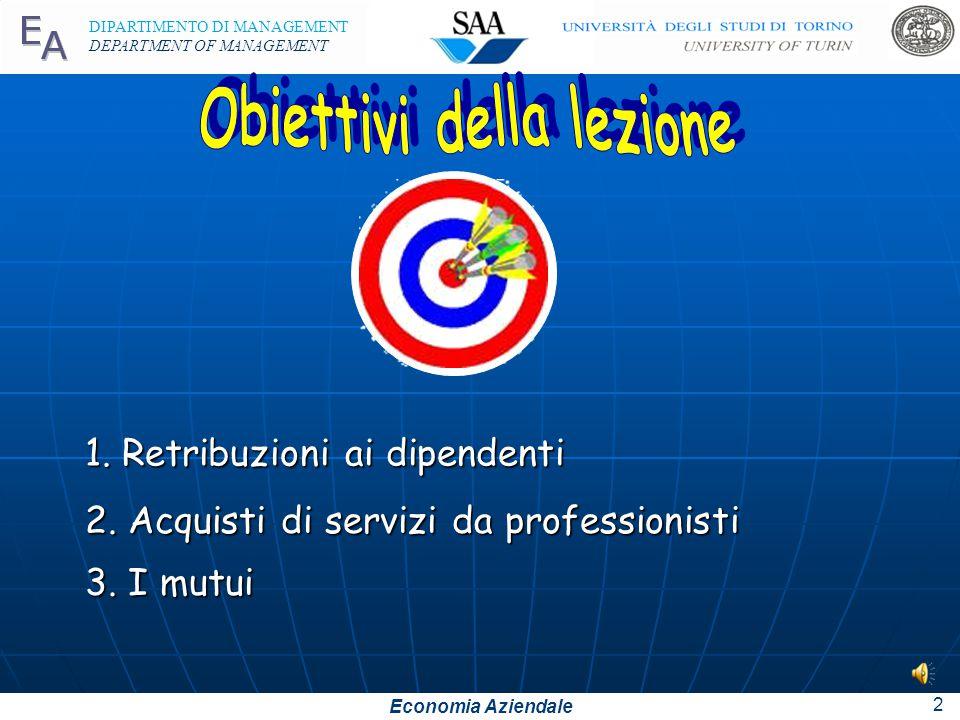 Economia Aziendale DIPARTIMENTO DI MANAGEMENT DEPARTMENT OF MANAGEMENT 2 2.