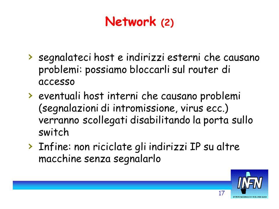 17 Network (2) › segnalateci host e indirizzi esterni che causano problemi: possiamo bloccarli sul router di accesso › eventuali host interni che caus
