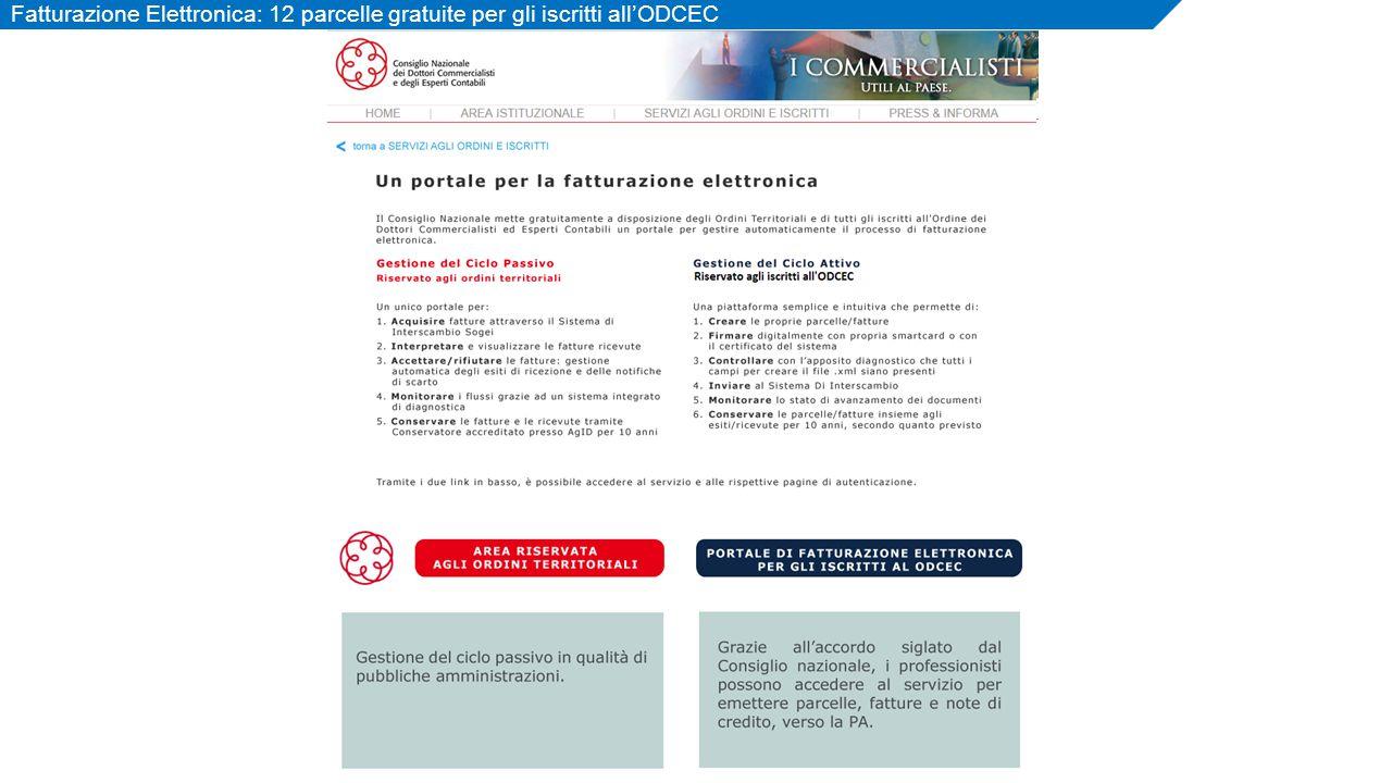 7 Fatturazione Elettronica: 12 parcelle gratuite per gli iscritti all'ODCEC
