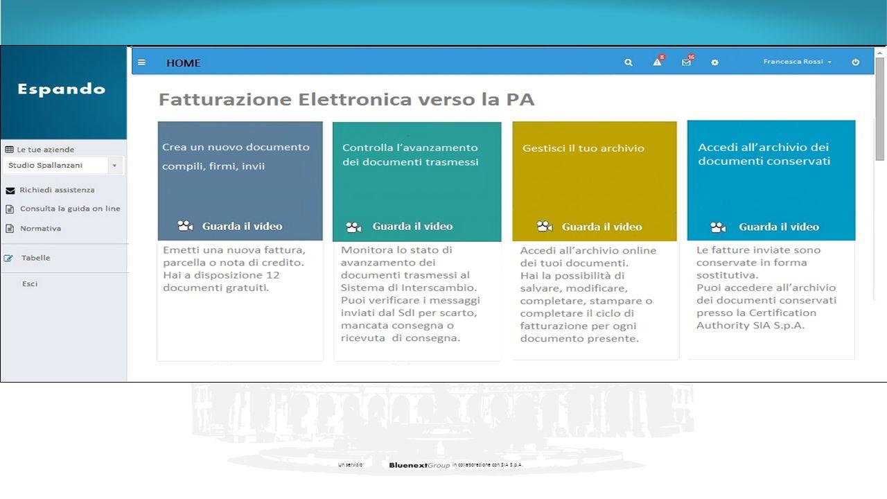 Un servizioin collaborazione con SIA S.p.A.