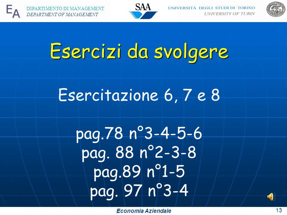 Economia Aziendale DIPARTIMENTO DI MANAGEMENT DEPARTMENT OF MANAGEMENT 12 Presentano le stesse caratteristiche delle importazioni di materie: problema