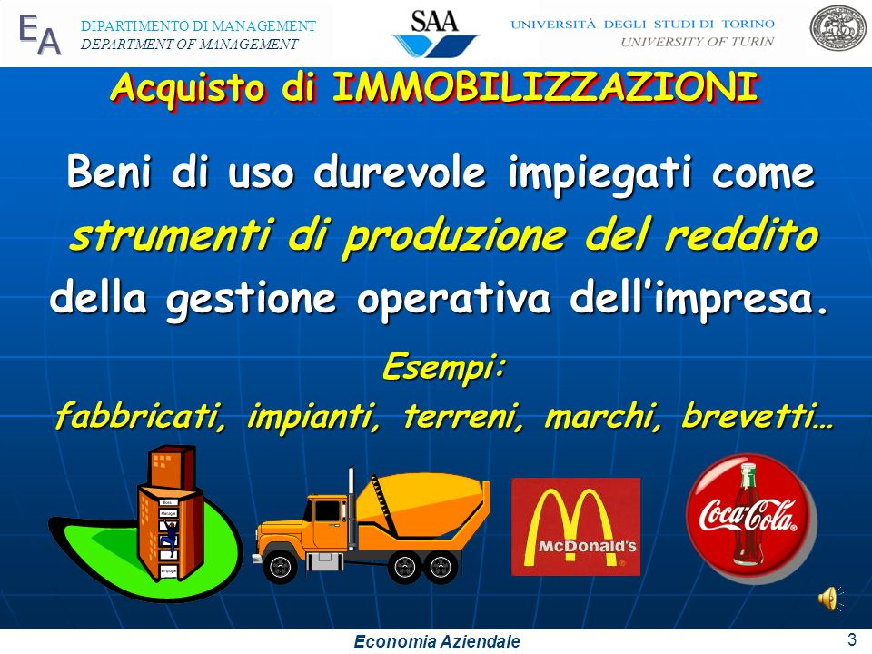Economia Aziendale DIPARTIMENTO DI MANAGEMENT DEPARTMENT OF MANAGEMENT 2 1.