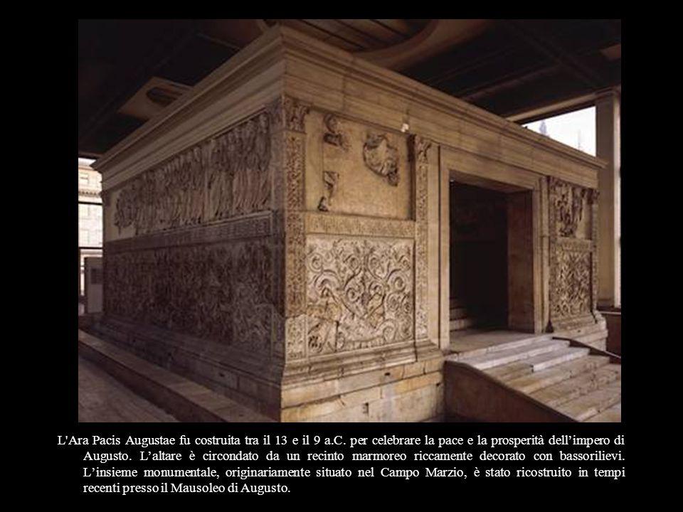 L Ara Pacis Augustae fu costruita tra il 13 e il 9 a.C.
