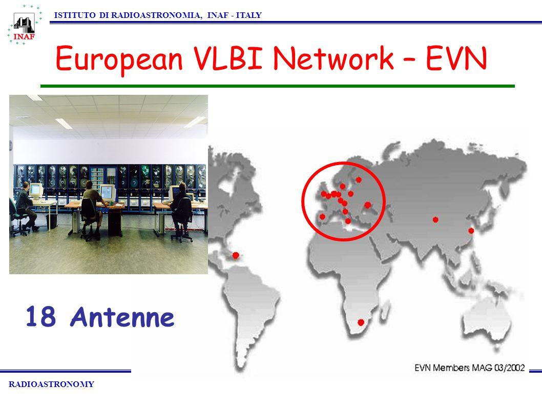 RADIOASTRONOMY ISTITUTO DI RADIOASTRONOMIA, INAF - ITALY European VLBI Network – EVN 18 Antenne