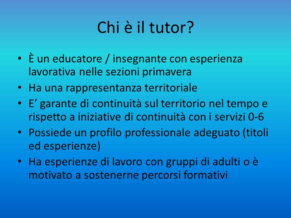 Cosa è richiesto ad un tutor.