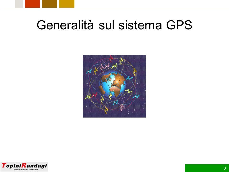 2 Agenda 1.Generalità sul sistema GPS 2.Principi di orientamento