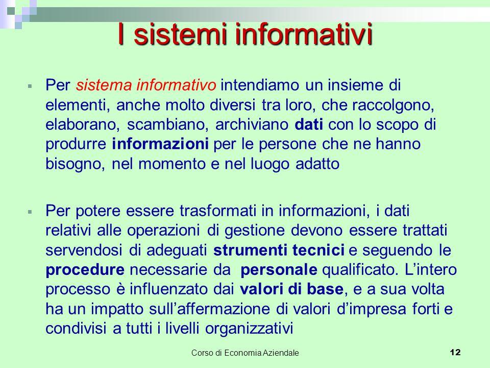  Per sistema informativo intendiamo un insieme di elementi, anche molto diversi tra loro, che raccolgono, elaborano, scambiano, archiviano dati con l