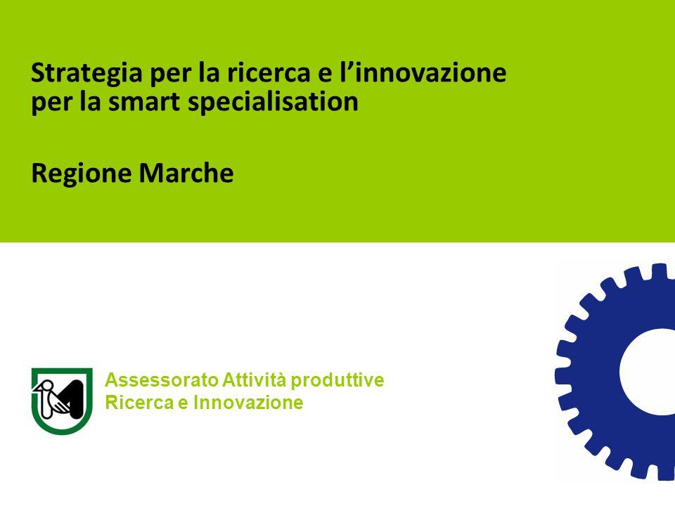 Strategia per la ricerca e l'innovazione per la smart specialisation Regione Marche Assessorato Attività produttive Ricerca e Innovazione