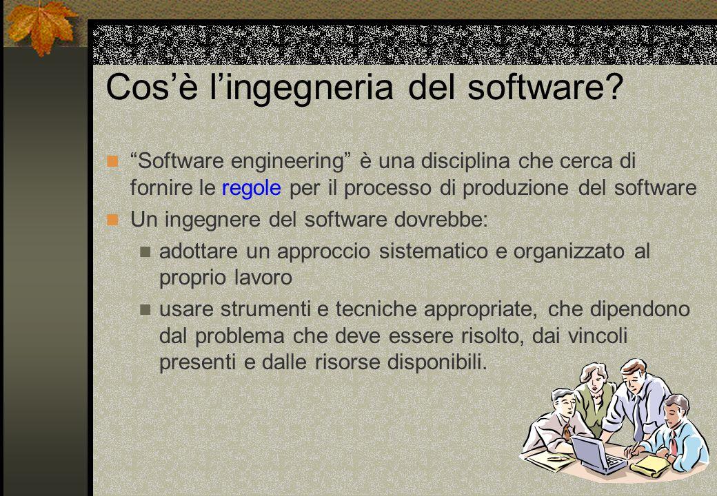 Cos'è l'ingegneria del software.