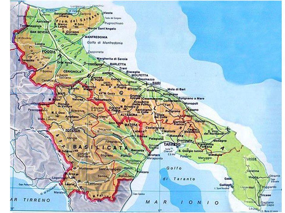 Puglia – Rugosità Fonte: Rielaborazione ISTAT su dati Digital Elevation Model a 75 metri