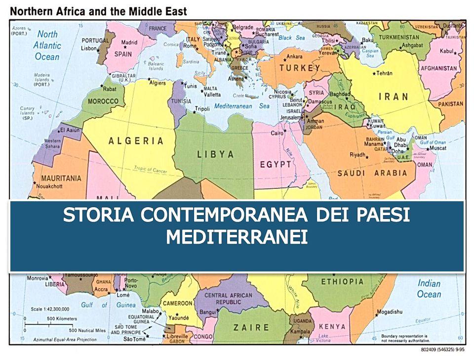 TEMI DELLE LEZIONI Tema principale: Evoluzione storica e politica dei Paesi mediterranei Temi trasversali e approfondimenti:  Il conflitto arabo israeliano  Islam e democrazia  Il fondamentalismo islamico  La politica euro-mediterranea  La primavera araba
