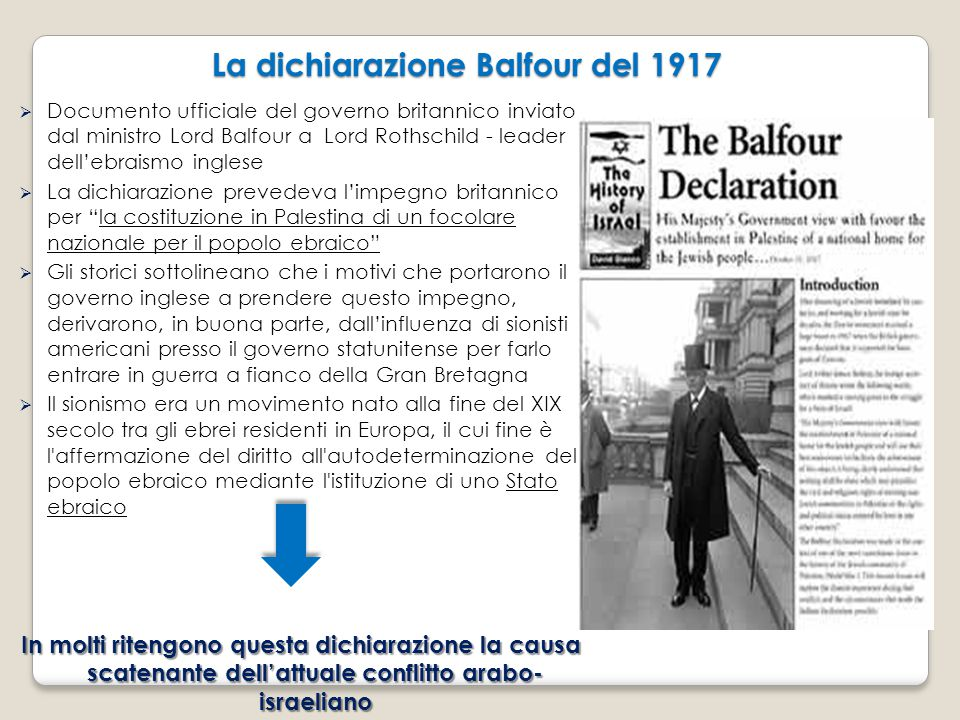  Documento ufficiale del governo britannico inviato dal ministro Lord Balfour a Lord Rothschild - leader dell'ebraismo inglese  La dichiarazione pre