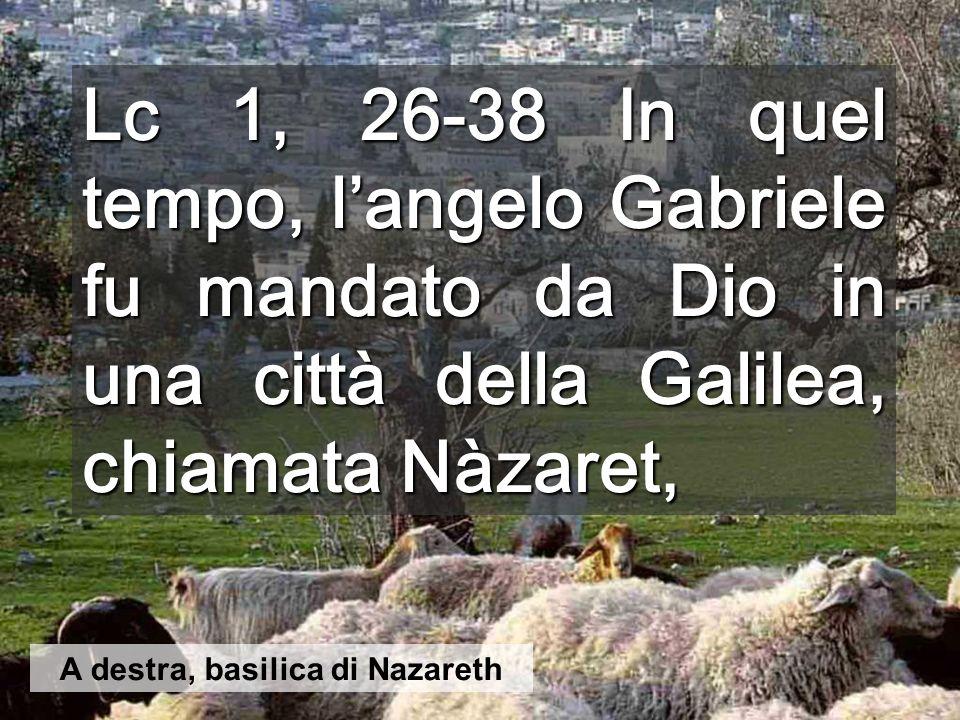 Interno della Basilica con la grotta dell'Annunciazione Nazareth era un luogo di antiche tombe, diventate abitazioni nel I secolo. Gesù fu concepito i