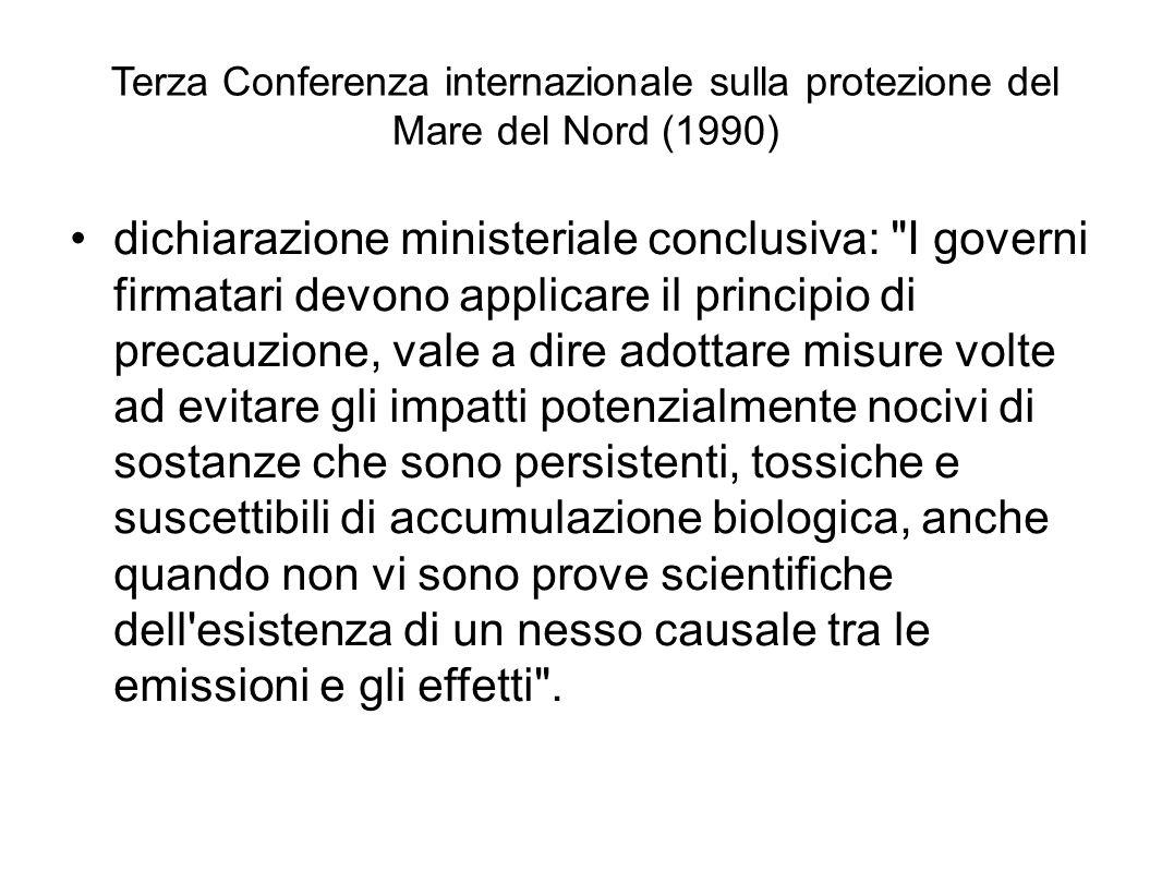 Terza Conferenza internazionale sulla protezione del Mare del Nord (1990) dichiarazione ministeriale conclusiva: