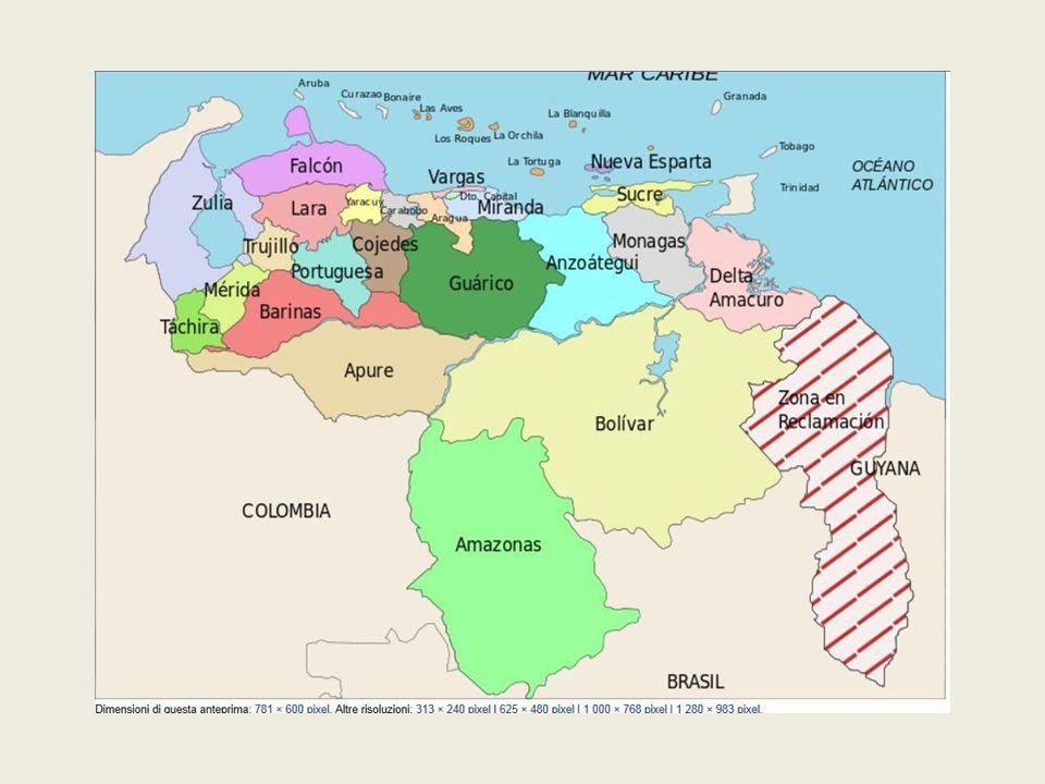 La Repúbblica Bolivariana di Venezuela ha un territorio di 917 mila km2 e una popolazione di circa 28 milioni e mezzo d' abitanti.