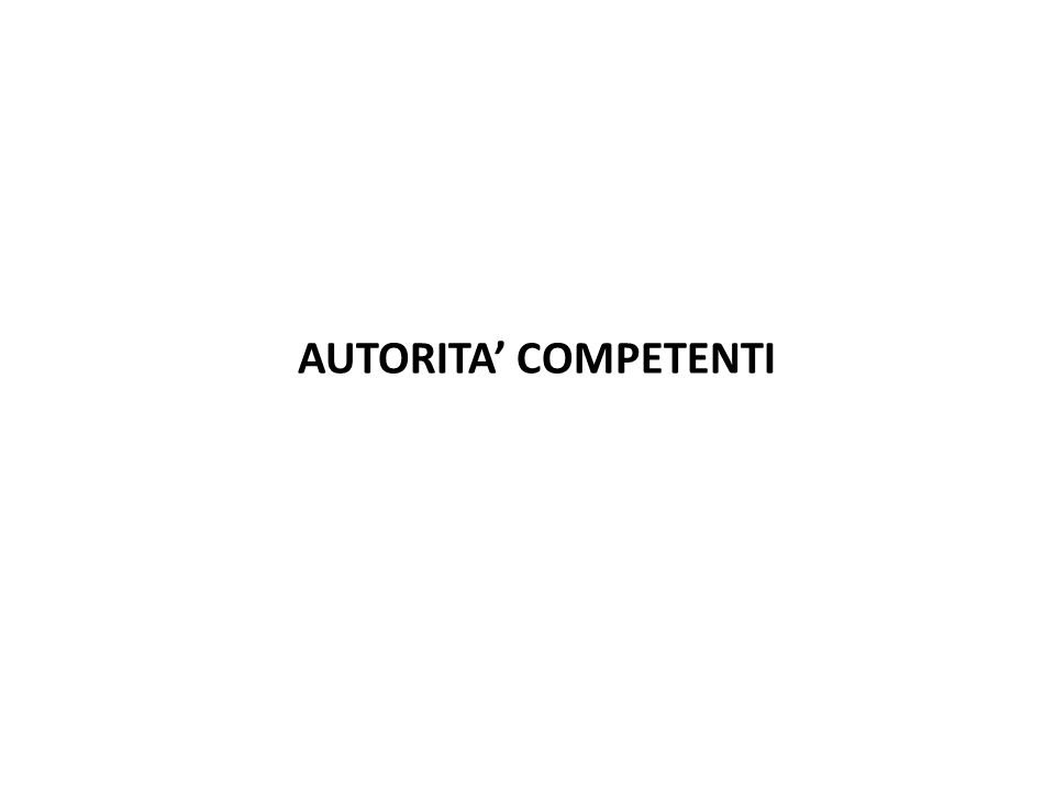 AUTORITA' COMPETENTI