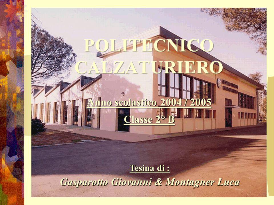 Tesina di : Gasparotto Giovanni & Montagner Luca Anno scolastico 2004 / 2005 Classe 2° B
