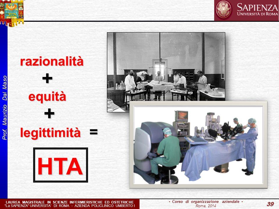 """Prof. Maurizio Dal Maso 39 - Corso di organizzazione aziendale - Roma, 2014 LAUREA MAGISTRALE IN SCIENZE INFERMIERISTICHE ED OSTETRICHE """"La SAPIENZA"""""""