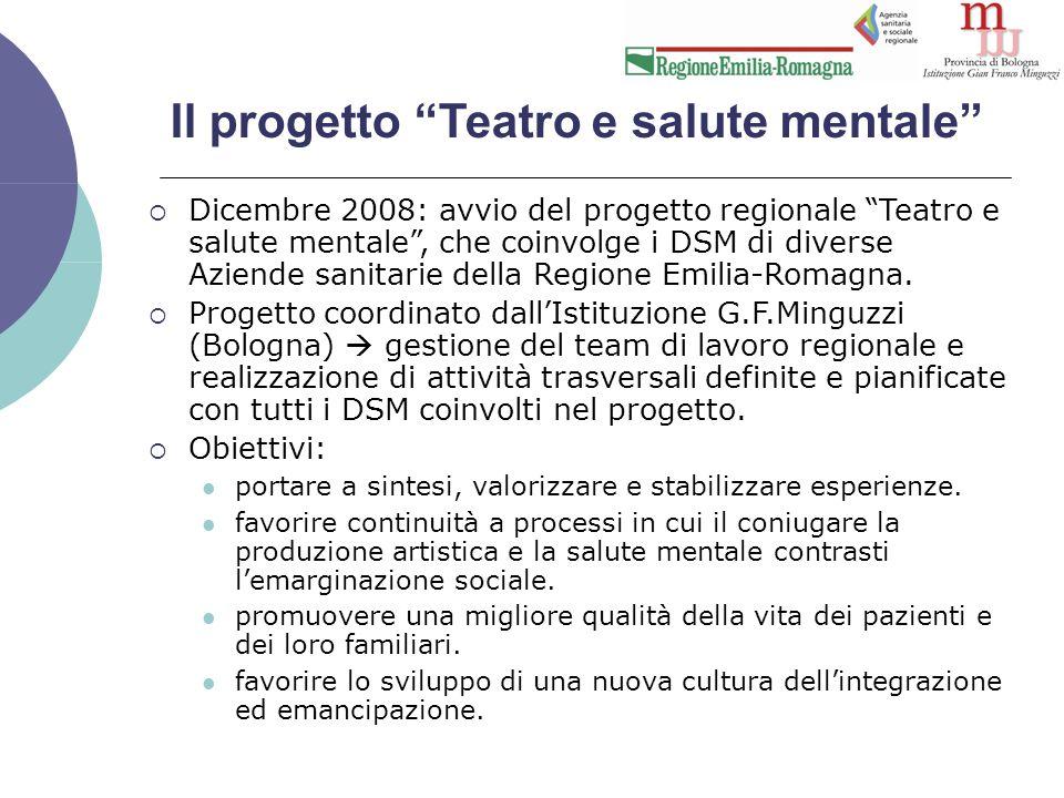 Valutazione dell'attività teatrale  Dalla letteratura emerge che il modello più indicato per la valutazione degli esiti dei trattamenti destinati a pazienti con patologie psichiatriche gravi debba essere basato su 3 principi metodologici: 1.