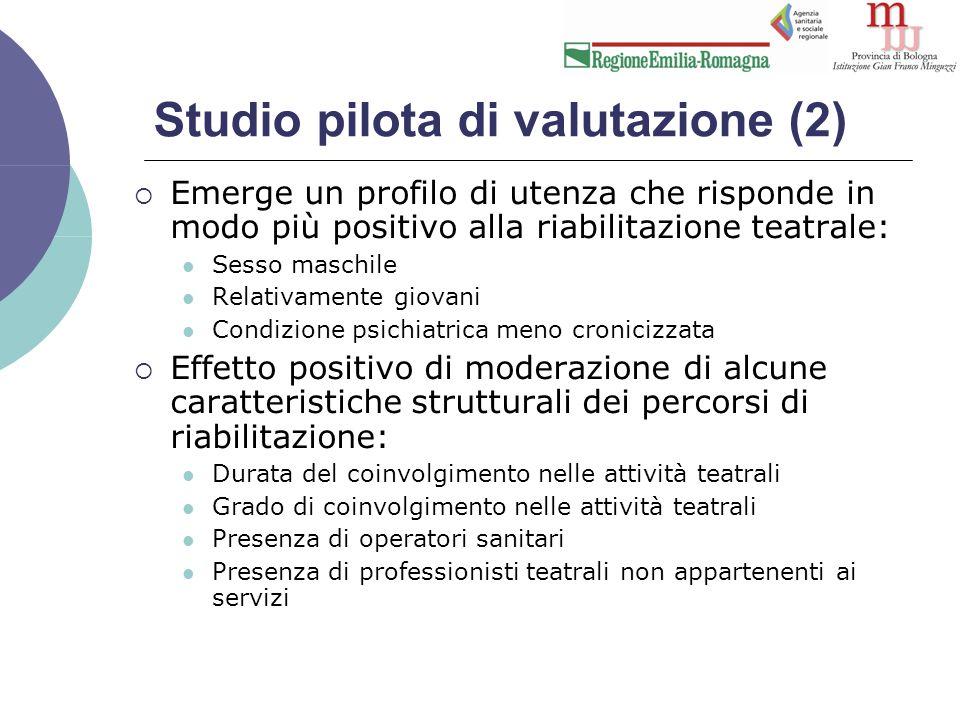 Procedura  La ricerca ha coinvolto 7 DSM in Emilia- Romagna (Piacenza, Parma, Reggio Emilia, Ferrara, Imola, Forlì, Rimini)  5 giornate di formazione rivolte agli operatori del Servizio (gennaio/marzo 2013).