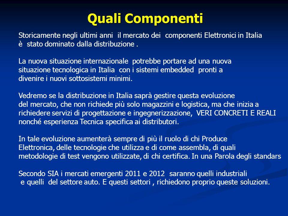 Quali Componenti Storicamente negli ultimi anni il mercato dei componenti Elettronici in Italia è stato dominato dalla distribuzione.