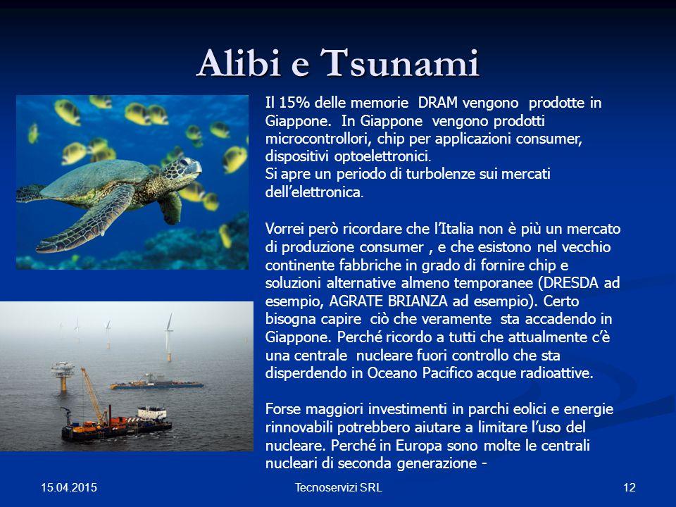 Alibi e Tsunami 15.04.2015 12Tecnoservizi SRL Il 15% delle memorie DRAM vengono prodotte in Giappone.