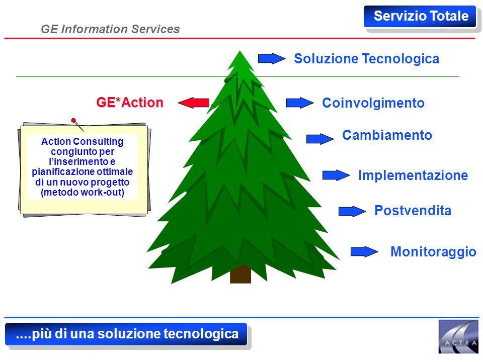 GE Information Services Soluzione Tecnologica Coinvolgimento Cambiamento Implementazione Postvendita Monitoraggio Soluzione di produttività........più di una soluzione tecnologica