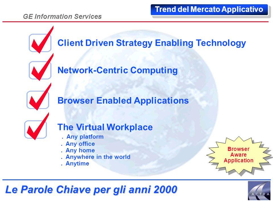 GE Information Services Verso la Azienda Estesa Trend delle Aziende Industria Specializzazione orizzontale Aziende Focus sul Core Business Concentrazi