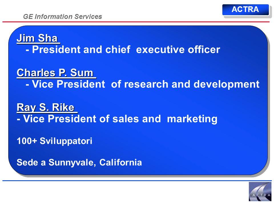 GE Information Services 50% Essere il partner primario nel software applicativo per il commercio elettronico su Internet Essere il partner primario nel software applicativo per il commercio elettronico su Internet Una componente della soluzione Missione ACTRA