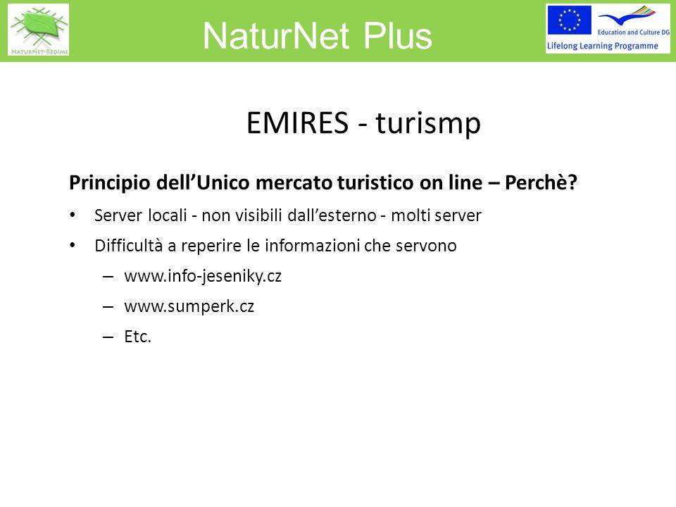 NaturNet Plus EMIRES - turismp Principio dell'Unico mercato turistico on line – Perchè.