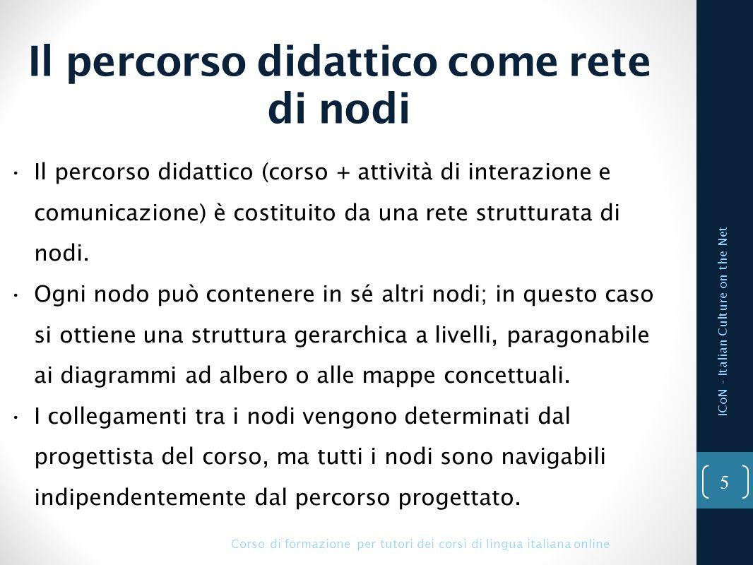 Esempio di struttura ICoN - Italian Culture on the Net Corso di formazione per tutori dei corsi di lingua italiana online 6