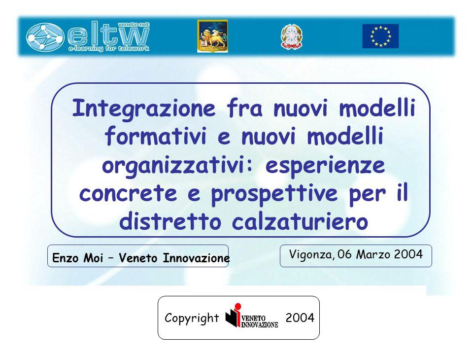 Integrazione fra nuovi modelli formativi e nuovi modelli organizzativi: esperienze concrete e prospettive per il distretto calzaturiero Vigonza, 06 Ma