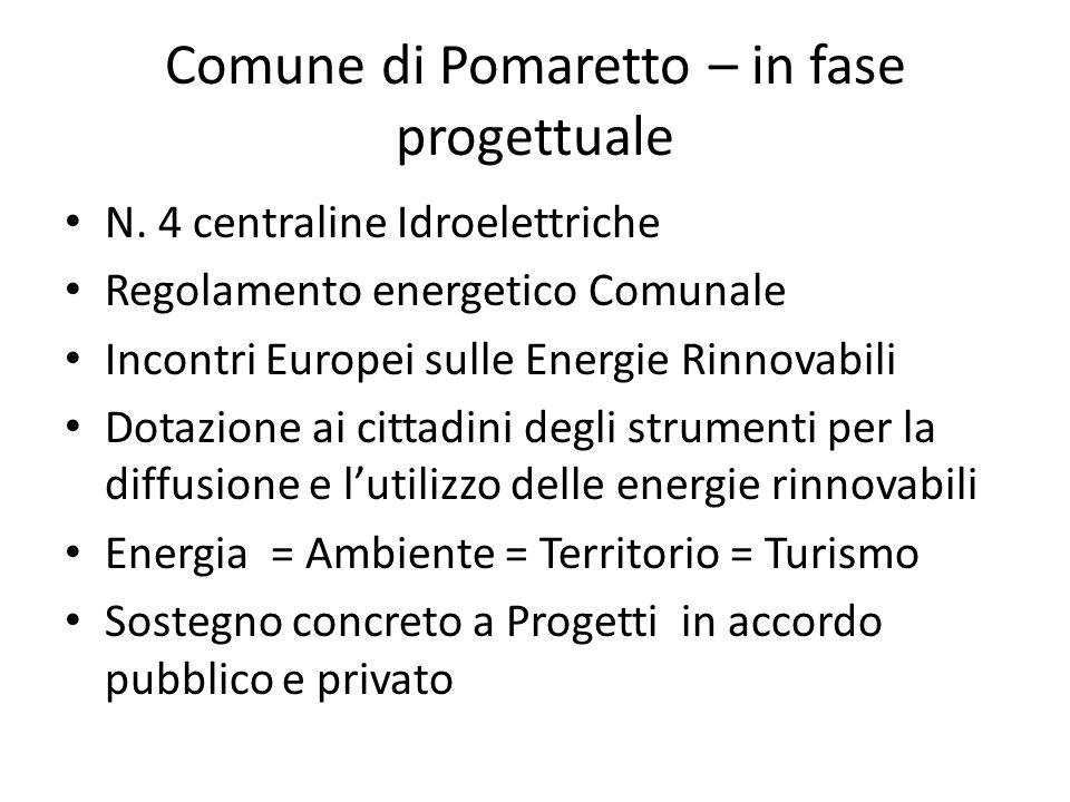 Comune di Pomaretto – in fase progettuale N.