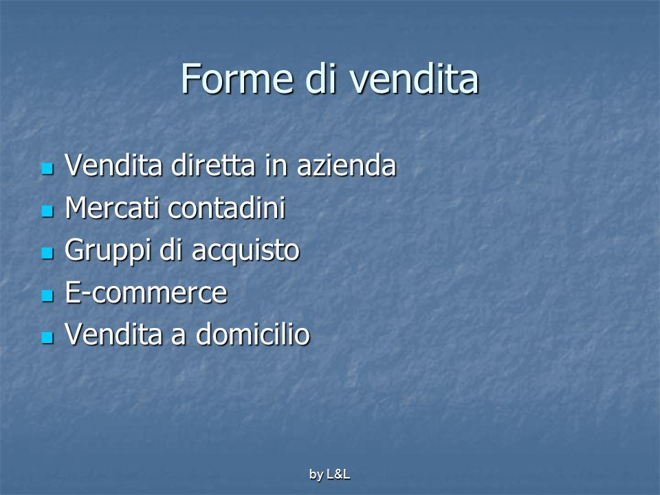 by L&L Forme di vendita Vendita diretta in azienda Vendita diretta in azienda Mercati contadini Mercati contadini Gruppi di acquisto Gruppi di acquist