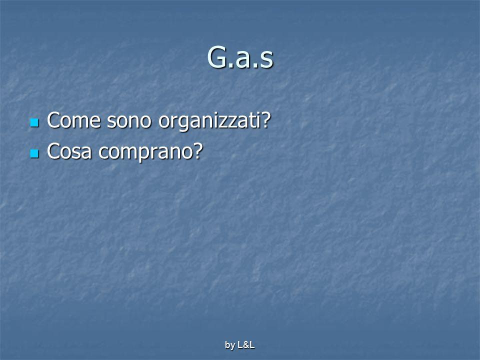 by L&L G.a.s Come sono organizzati? Come sono organizzati? Cosa comprano? Cosa comprano?