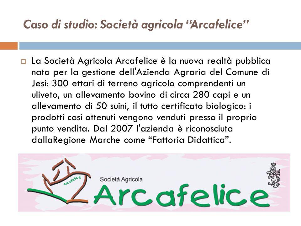 """Caso di studio: Società agricola """"Arcafelice""""  La Società Agricola Arcafelice è la nuova realtà pubblica nata per la gestione dell'Azienda Agraria de"""