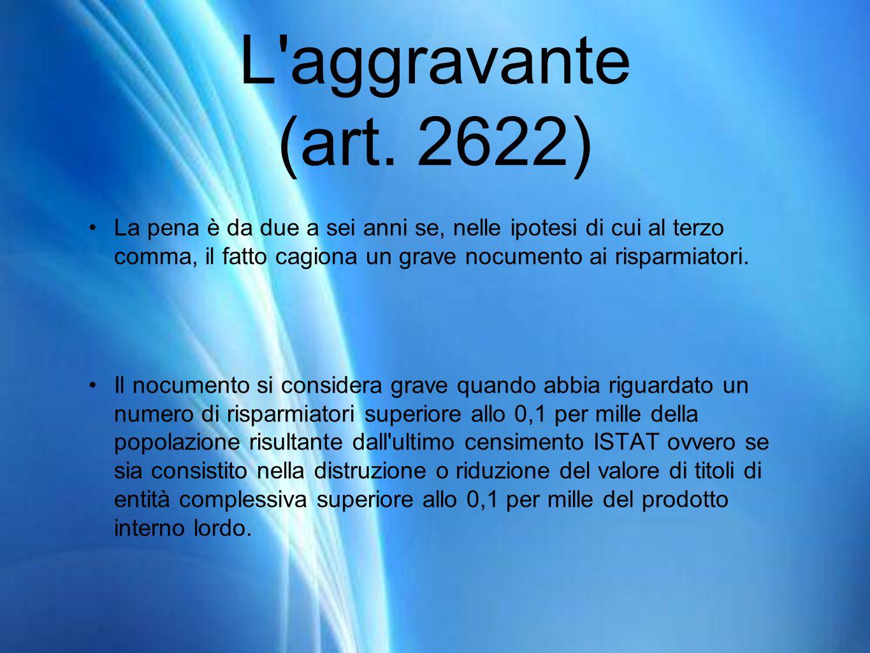L aggravante (art.
