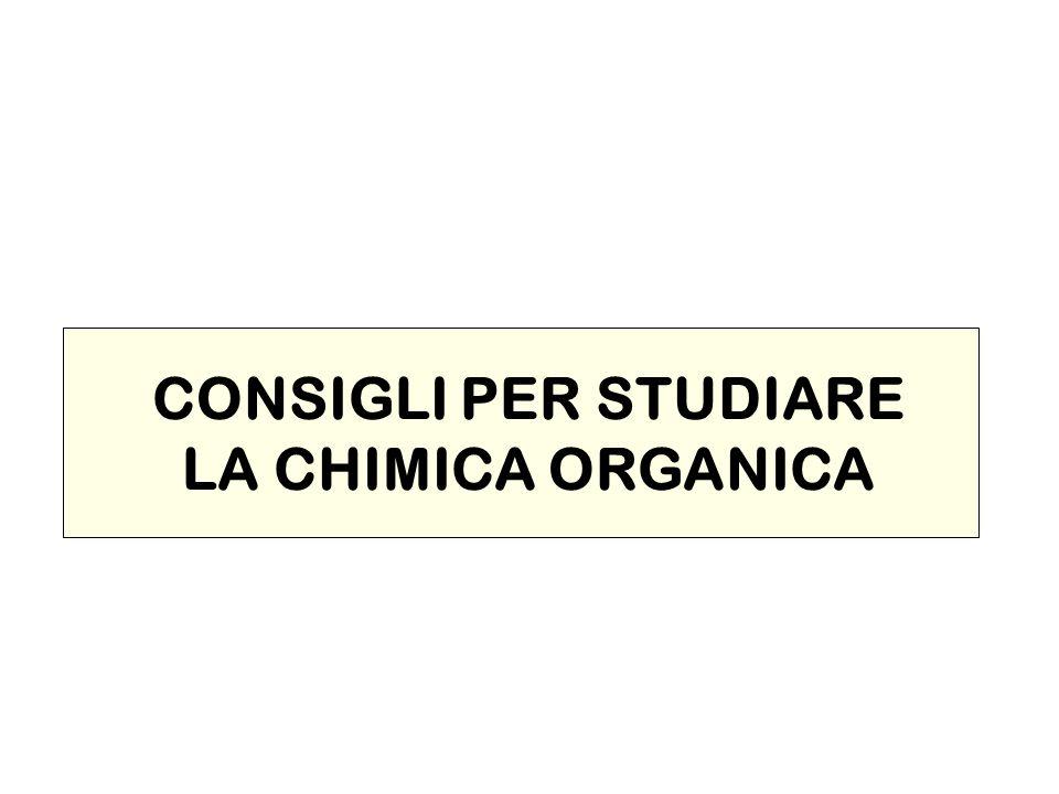 CONSIGLI PER STUDIARE LA CHIMICA ORGANICA