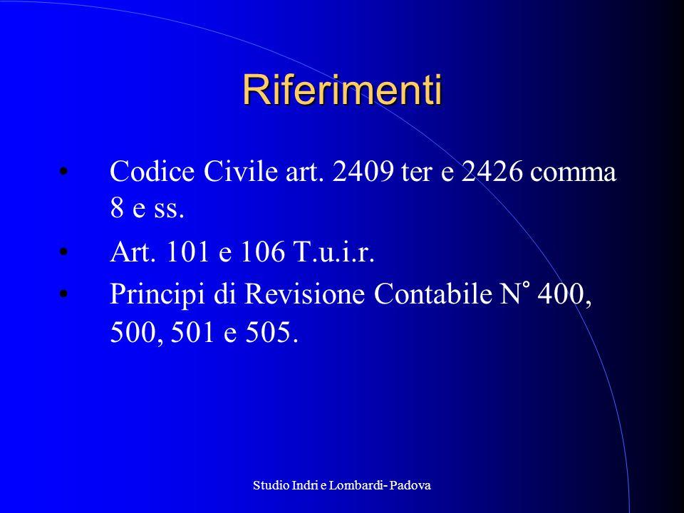 Studio Indri e Lombardi- Padova Riferimenti Codice Civile art.